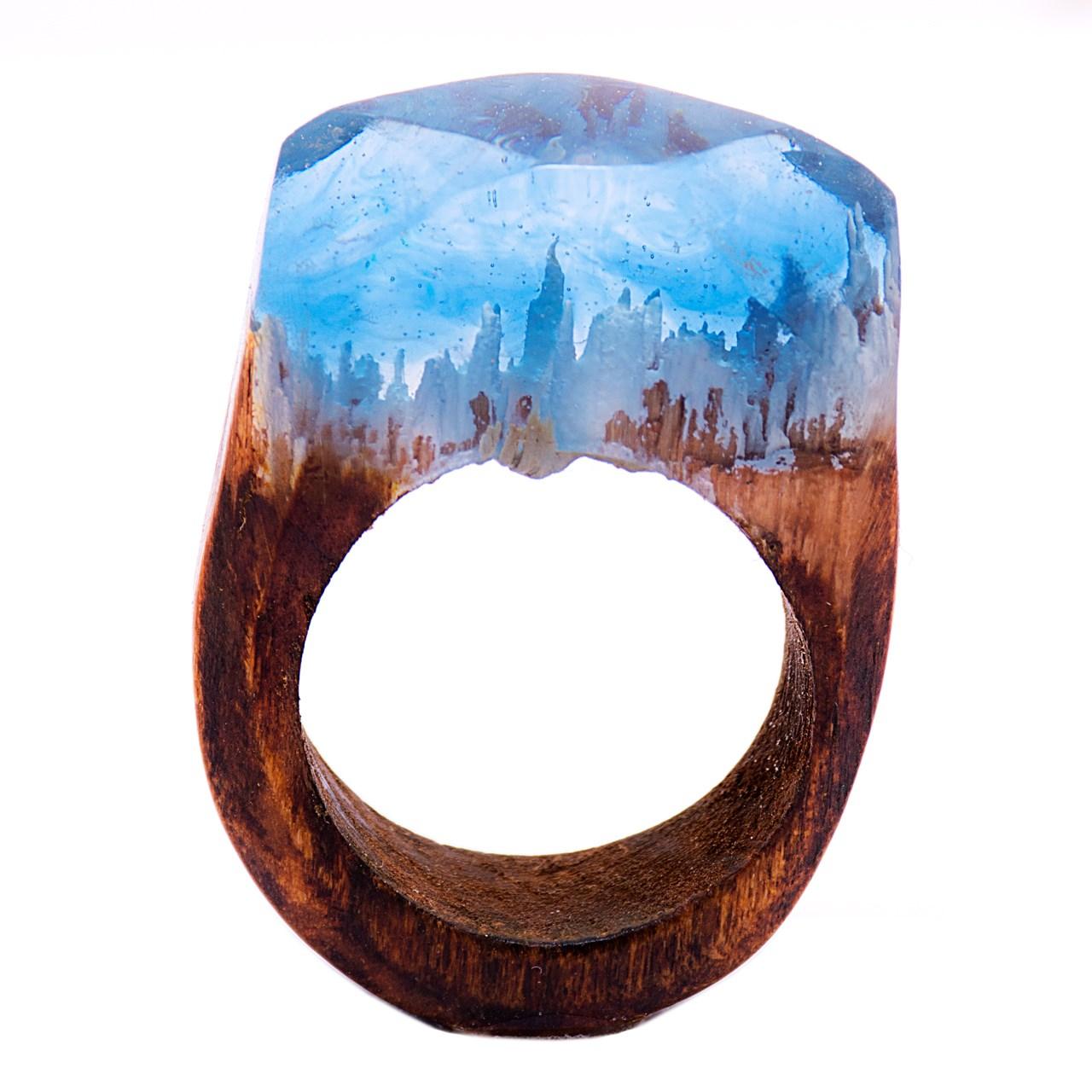 انگشتر باربد طرح چوبی کد A5