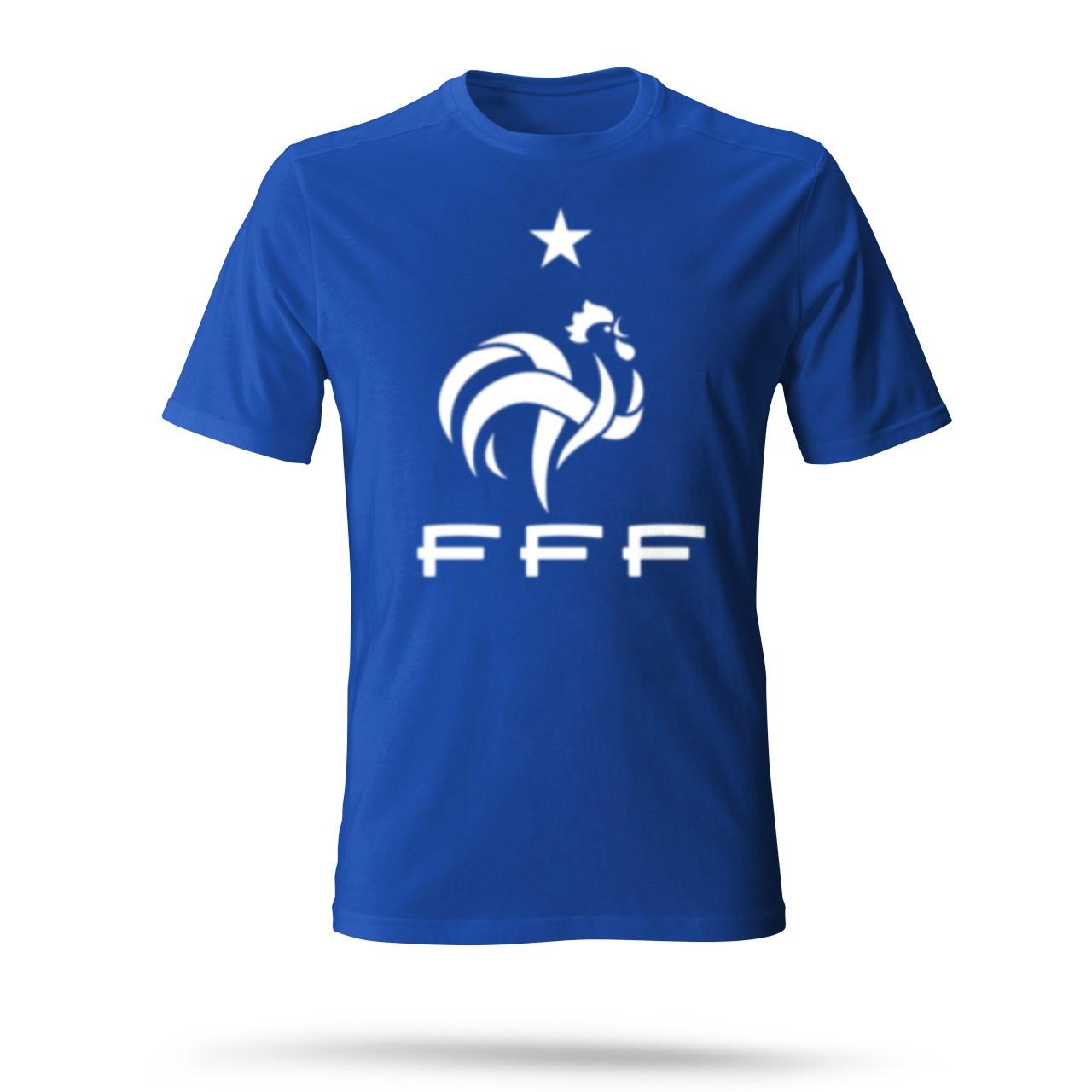 تی شرت مردانه طرح فرانسه رنگ آبی