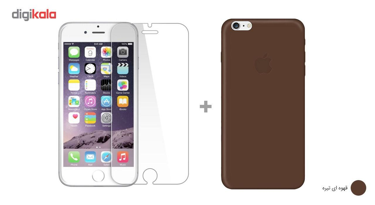 کاور کوالا مدل سیلیکونی مناسب برای گوشی موبایل اپل آیفون 6Plus/6S Plus به همراه محافظ صفحه نمایش main 1 8