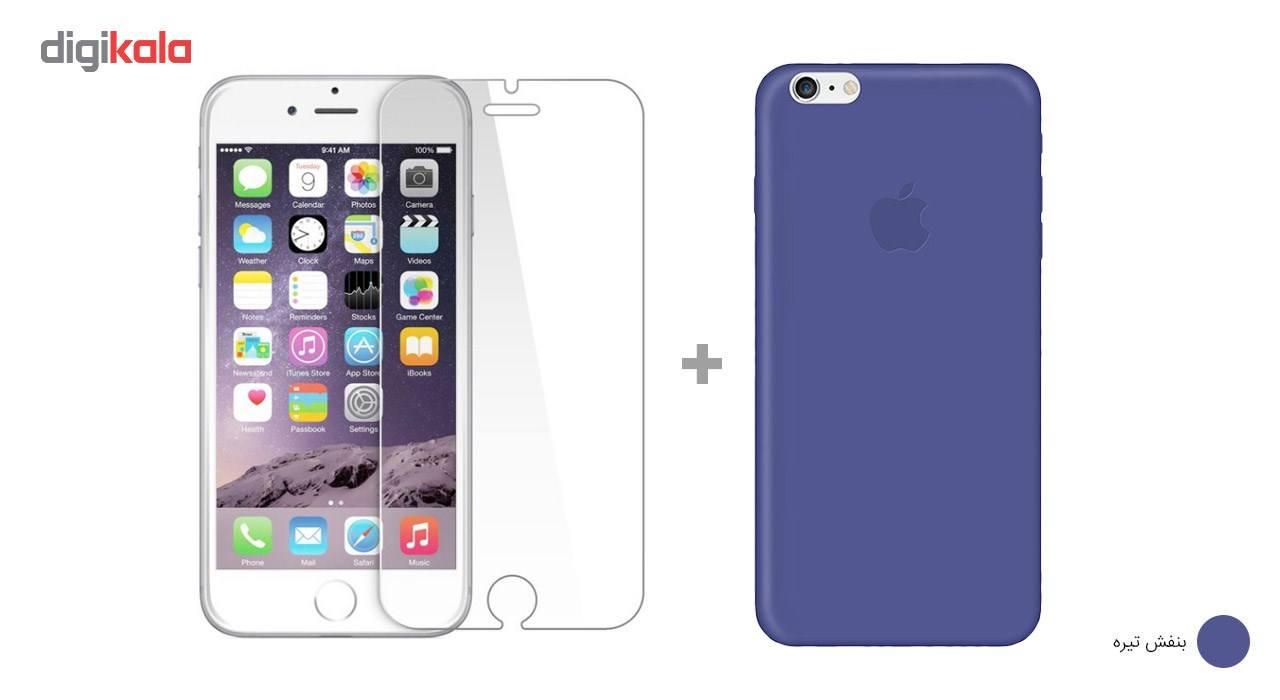 کاور کوالا مدل سیلیکونی مناسب برای گوشی موبایل اپل آیفون 6Plus/6S Plus به همراه محافظ صفحه نمایش main 1 9
