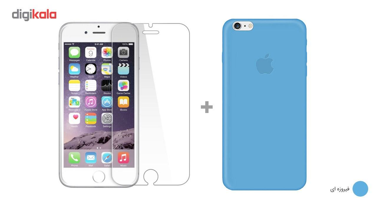 کاور کوالا مدل سیلیکونی مناسب برای گوشی موبایل اپل آیفون 6Plus/6S Plus به همراه محافظ صفحه نمایش main 1 10
