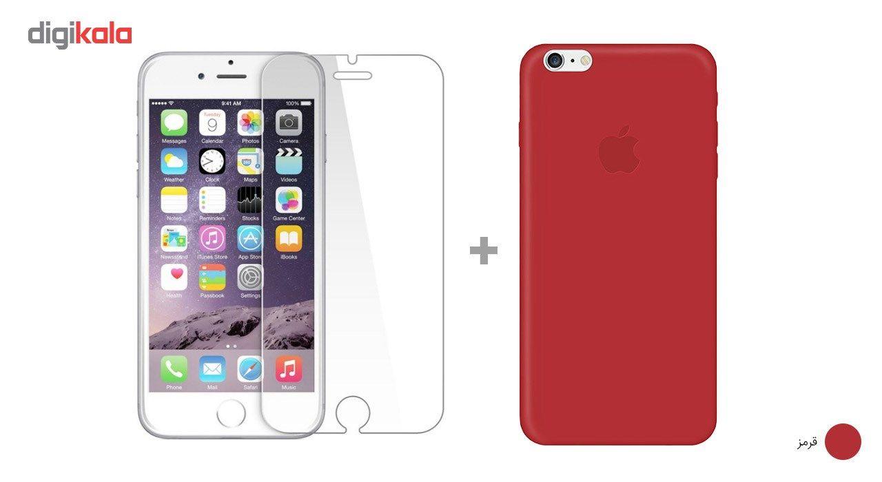 کاور کوالا مدل سیلیکونی مناسب برای گوشی موبایل اپل آیفون 6Plus/6S Plus به همراه محافظ صفحه نمایش main 1 13