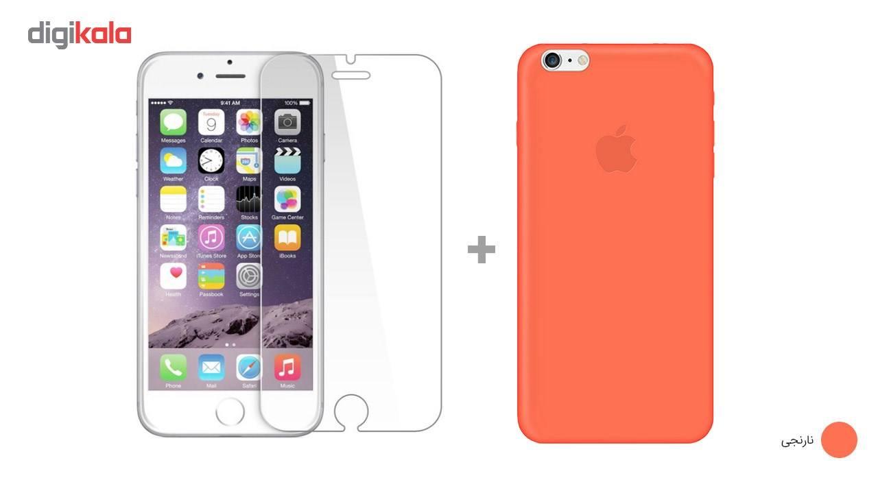 کاور کوالا مدل سیلیکونی مناسب برای گوشی موبایل اپل آیفون 6Plus/6S Plus به همراه محافظ صفحه نمایش main 1 14