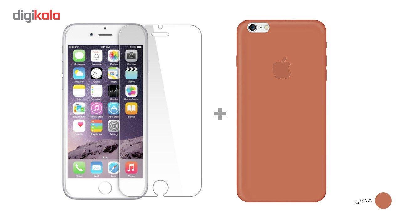 کاور کوالا مدل سیلیکونی مناسب برای گوشی موبایل اپل آیفون 6Plus/6S Plus به همراه محافظ صفحه نمایش main 1 17