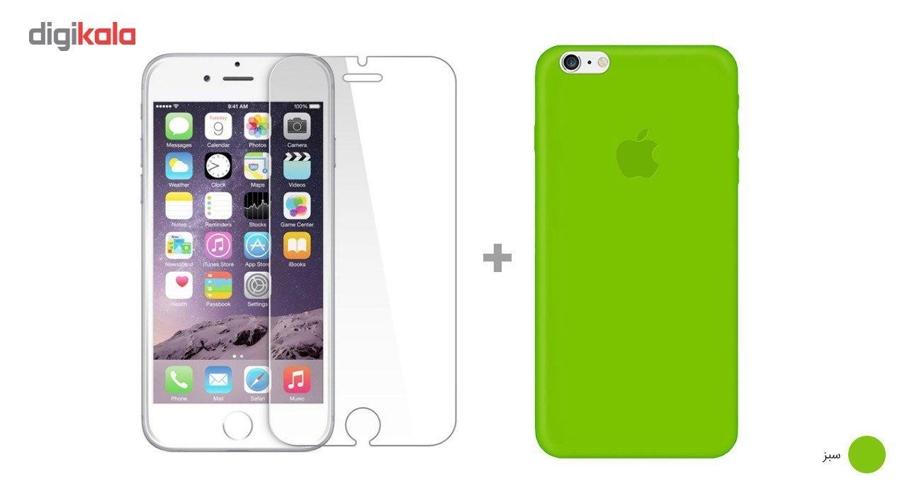کاور کوالا مدل سیلیکونی مناسب برای گوشی موبایل اپل آیفون 6Plus/6S Plus به همراه محافظ صفحه نمایش main 1 21
