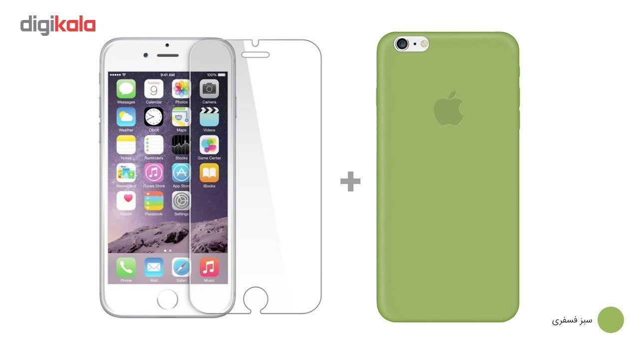 کاور کوالا مدل سیلیکونی مناسب برای گوشی موبایل اپل آیفون 6Plus/6S Plus به همراه محافظ صفحه نمایش main 1 22