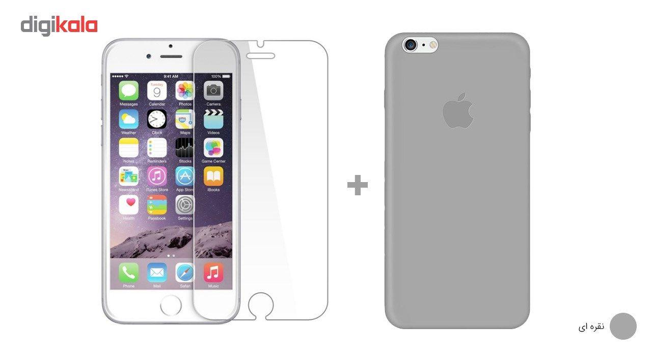 کاور کوالا مدل سیلیکونی مناسب برای گوشی موبایل اپل آیفون 6Plus/6S Plus به همراه محافظ صفحه نمایش main 1 24