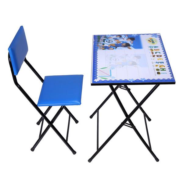 میز و صندلی تحریر تاشو و تنظیم شوطرح فوتبالیستها