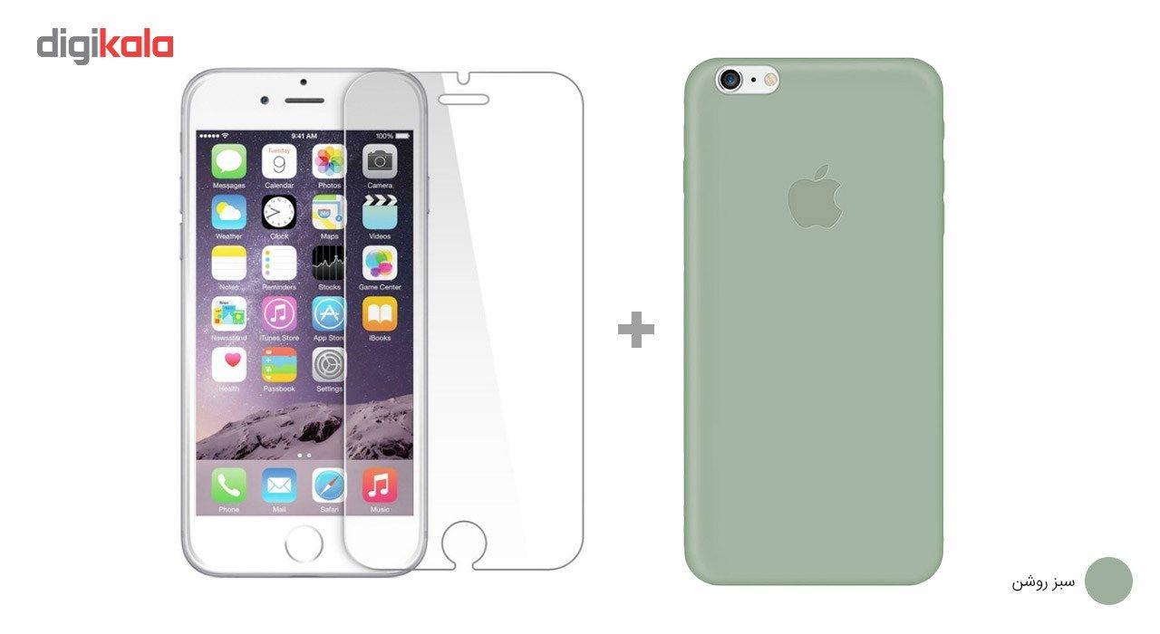کاور کوالا مدل سیلیکونی مناسب برای گوشی موبایل اپل آیفون 6Plus/6S Plus به همراه محافظ صفحه نمایش main 1 25