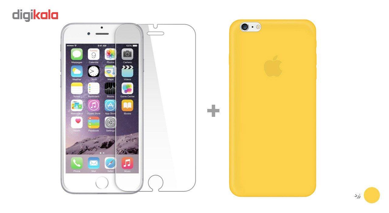 کاور کوالا مدل سیلیکونی مناسب برای گوشی موبایل اپل آیفون 6Plus/6S Plus به همراه محافظ صفحه نمایش main 1 26