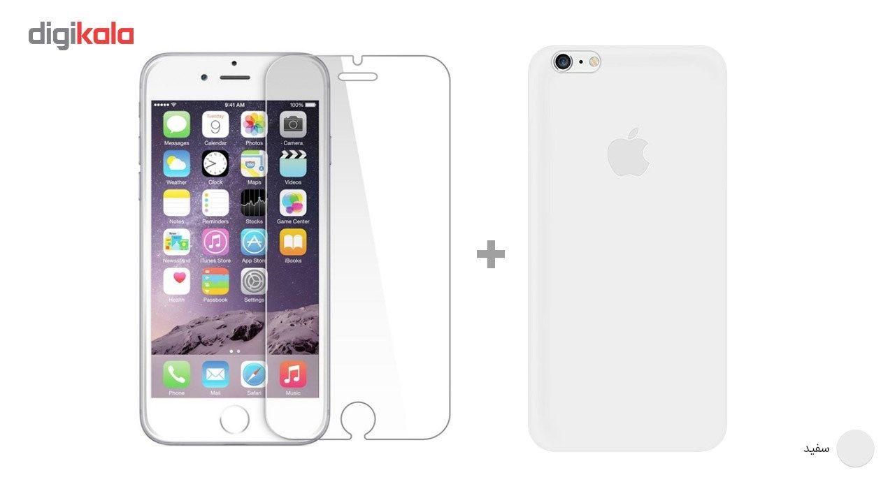 کاور کوالا مدل سیلیکونی مناسب برای گوشی موبایل اپل آیفون 6Plus/6S Plus به همراه محافظ صفحه نمایش main 1 30