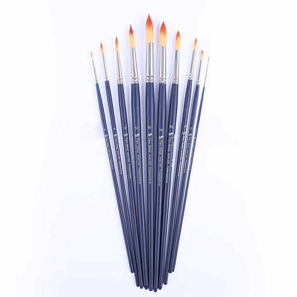 قلم مو پارس آرتیست کد 1000 گرد دسته بلند ست 10 عددی