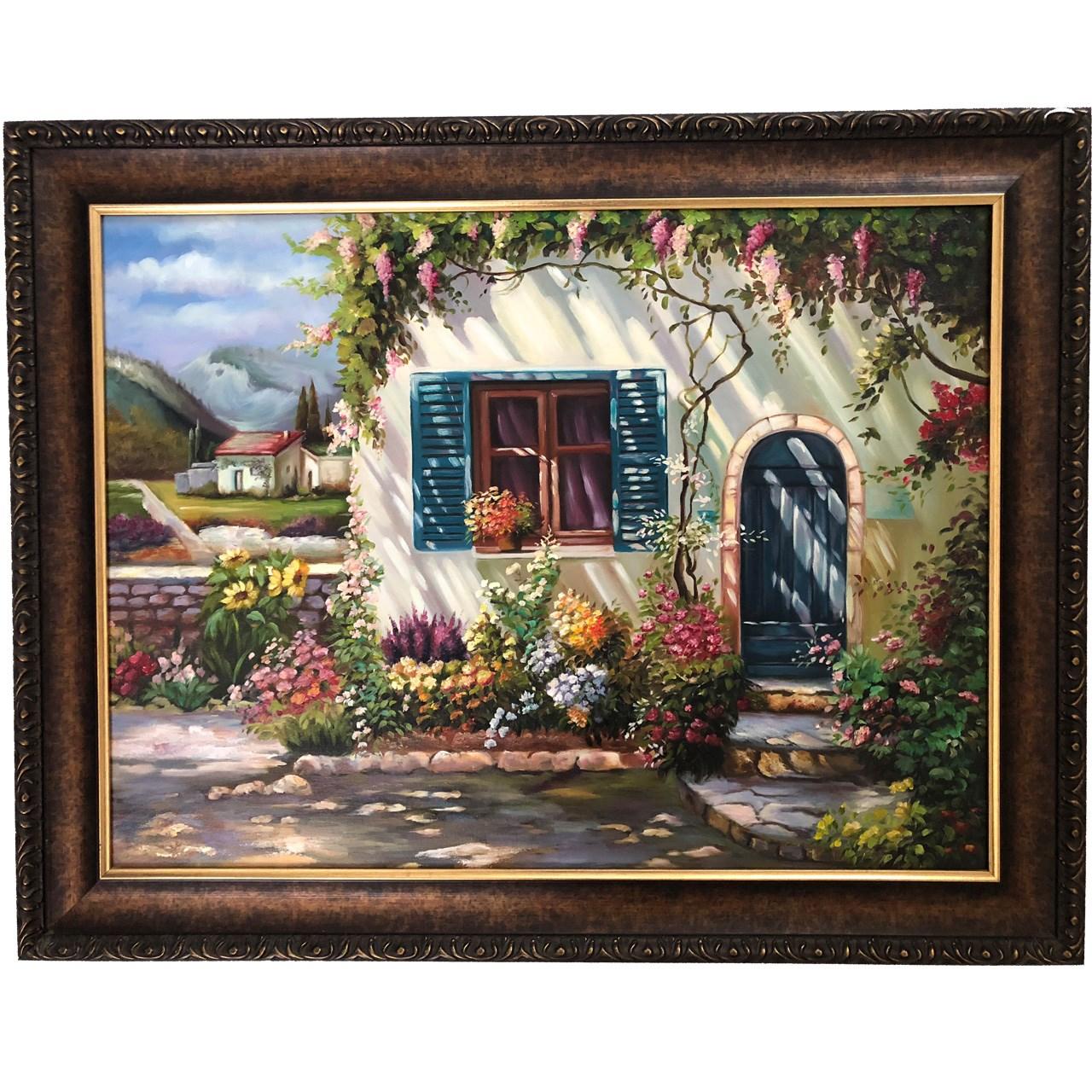 تابلو نقاشی گالری بارسین طرح خانه باغ