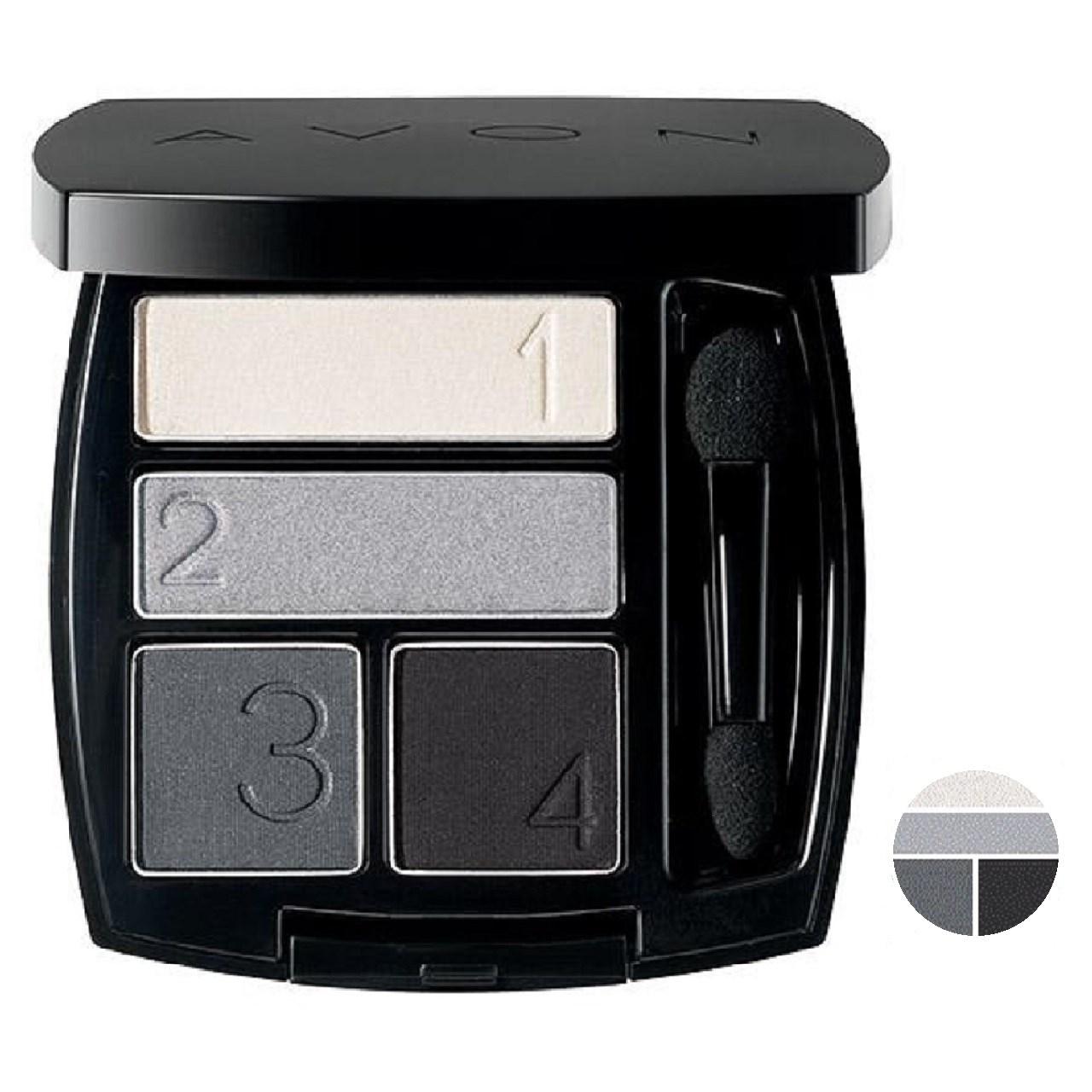 خرید                                      سایه چشم آون مدل  Avon True Color Multi-Finish Eyeshadow Quad رنگ Urban Skyline