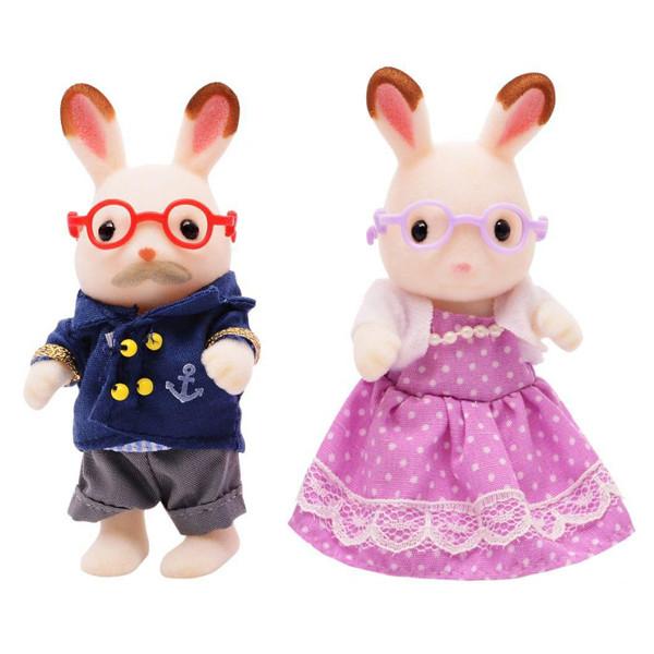 عروسک سیلوانیان فامیلیز مدل خرگوش کد 5257 مجموعه 2 عددی