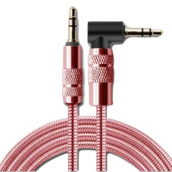 کابل انتقال صدای 3.5 میلی متری فلزی پرومکس مدل PM-100 AUX به طول 1 متر