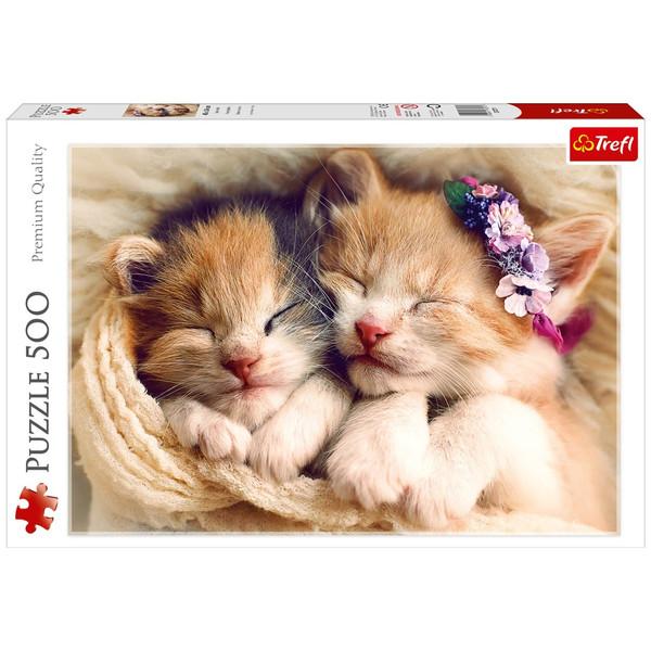 پازل 500 تکه تریفل طرح بچه گربه های خواب