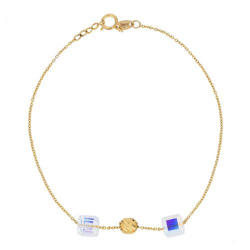 دستبند طلا 18 عیار ماهک مدل MB0778