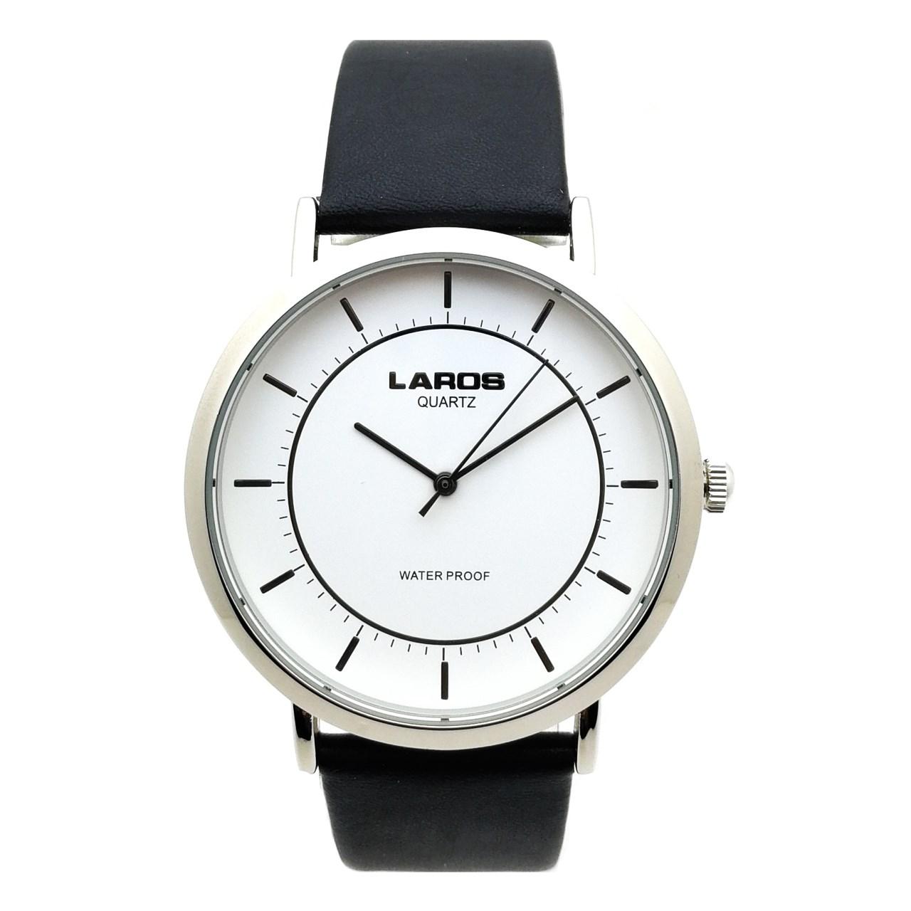 ساعت مچی عقربه ای مردانه لاروس مدل LM-A100-White