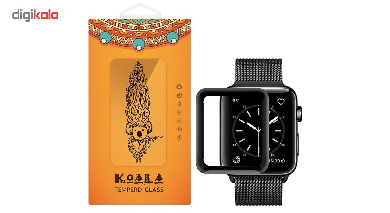 محافظ صفحه نمایش شیشه ای کوالا مدل Full Cover مناسب اپل واچ سایز 38 میلی متر main 1 1