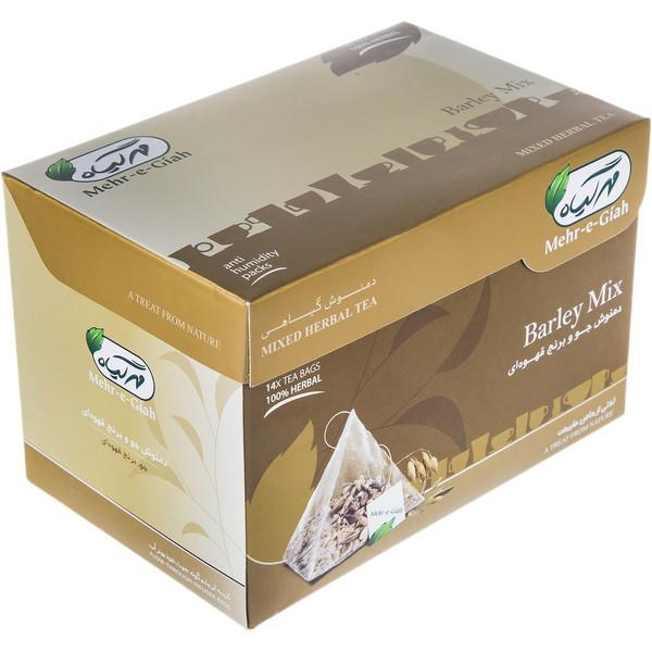 دمنوش گیاهی جو برنج قهوه ای مهرگیاه بسته 14 عددی