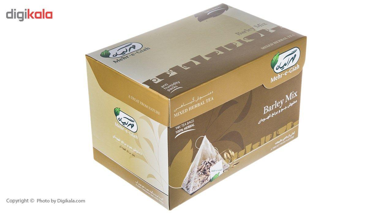 دمنوش گیاهی جو برنج قهوه ای مهرگیاه بسته 14 عددی main 1 3