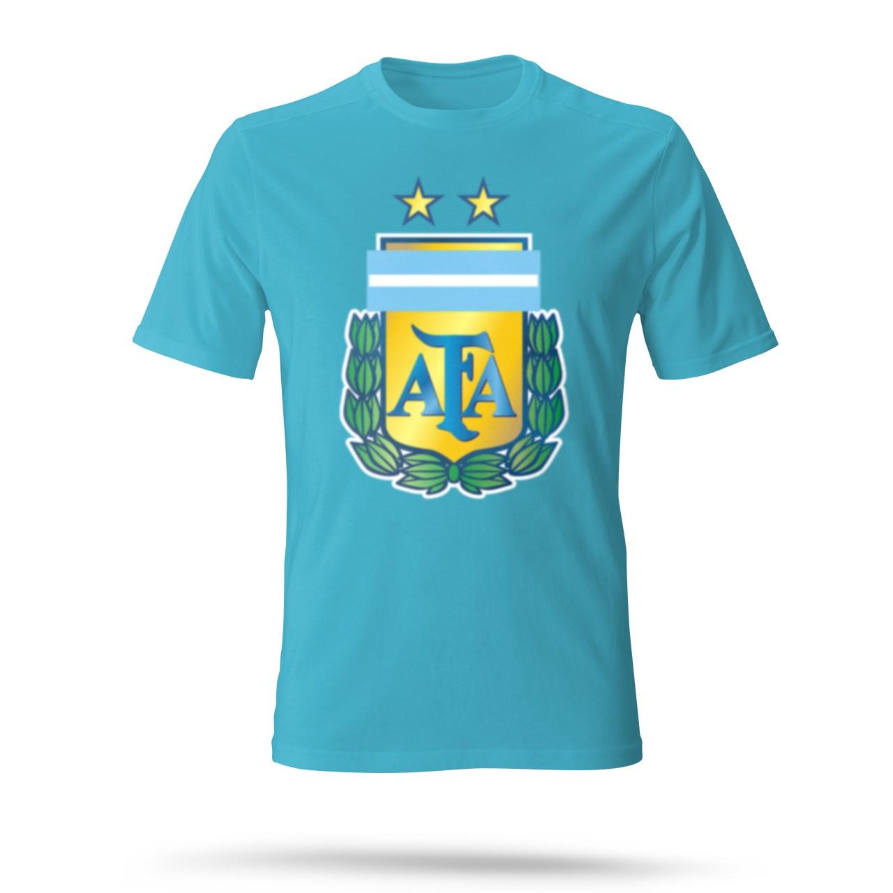تی شرت مردانه طرح AFA رنگ آبی روشن