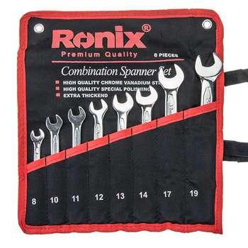 مجموعه 8 عددی آچار دو سر تخت رونیکس مدل RH-2201