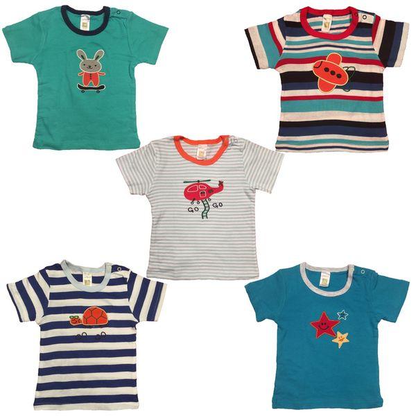 ست تیشرت کودک و نوزاد کارترز مدل 601-18-3 بسته 5عددی 12تا18ماه
