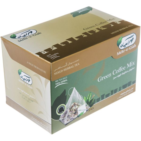 دمنوش مخلوط قهوه سبز مهرگیاه بسته 14 عددی