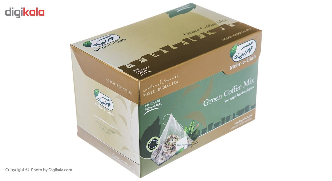 دمنوش مخلوط قهوه سبز مهرگیاه بسته 14 عددی main 1 3