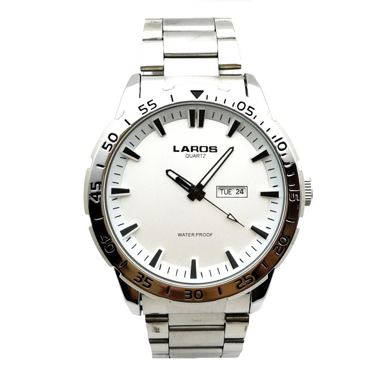 ساعت مچی عقربه ای مردانه لاروس مدل LM-A122-White