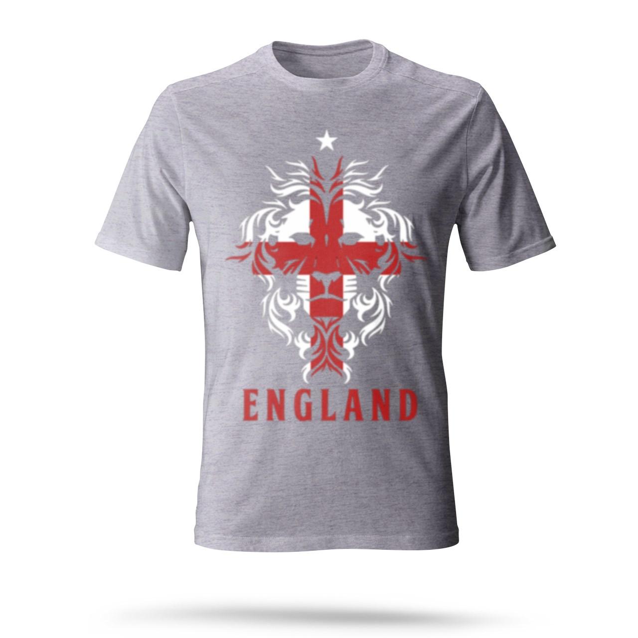 تی شرت طوسی مردانه طرح ENGLAND رنگ طوسی