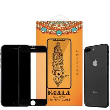 محافظ صفحه نمایش شیشه ای مات Full Cover و پشت شیشه ای Tempered کوالا مناسب برای گوشی موبایل اپل آیفون  7Plus/8 Plus