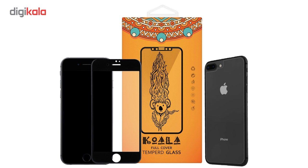 محافظ صفحه نمایش شیشه ای مات Full Cover و پشت شیشه ای Tempered کوالا مناسب برای گوشی موبایل اپل آیفون  7Plus/8 Plus main 1 1