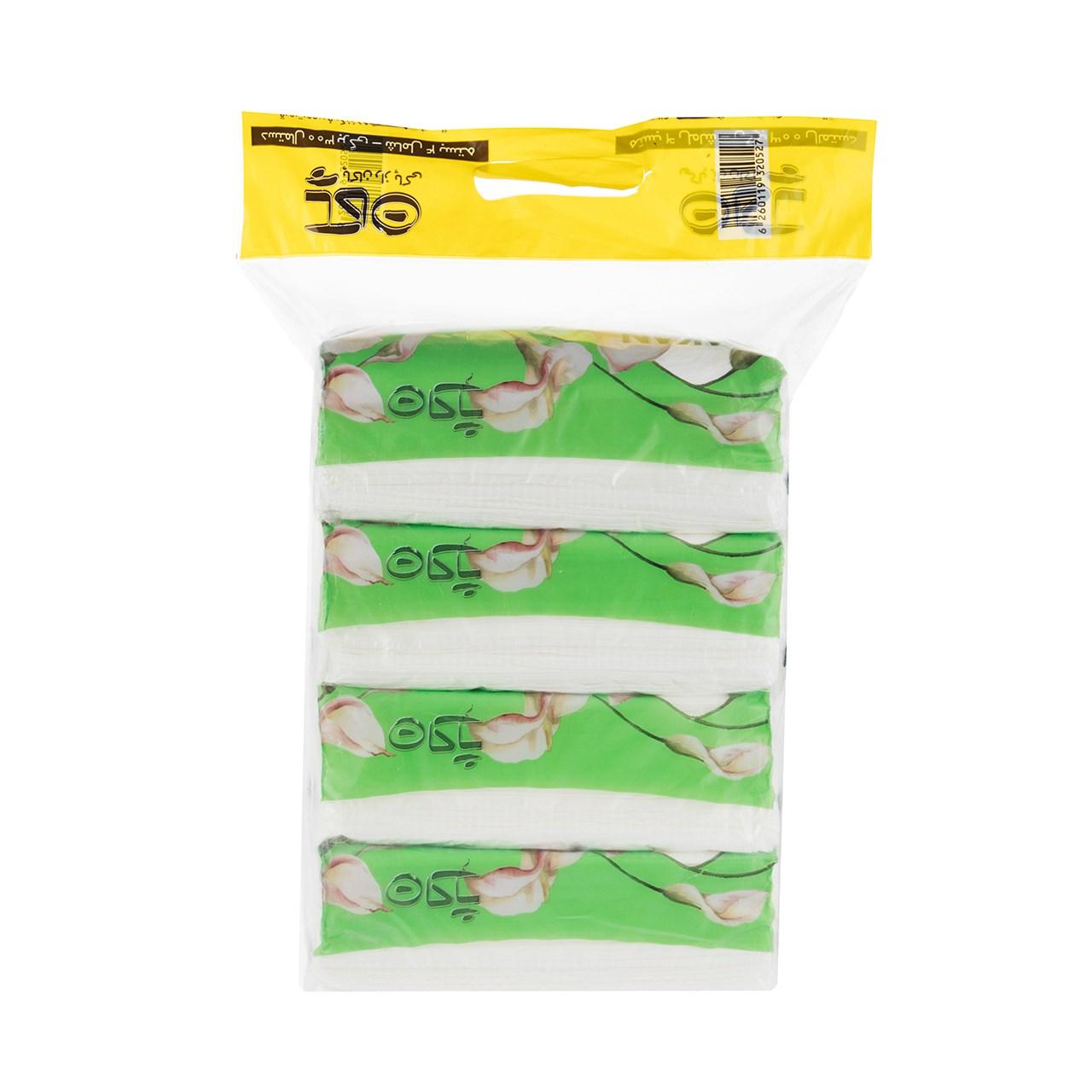دستمال کاغذی 150 برگ سبز پاکان بسته 4 عددی