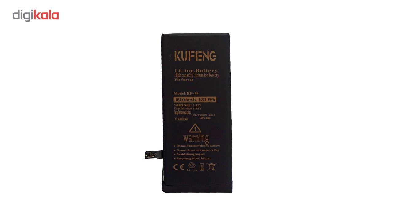 باتری موبایل کافنگ مدل KF-6G با ظرفیت 1810mAh مناسب برای گوشی های موبایل آیفون 6G main 1 3