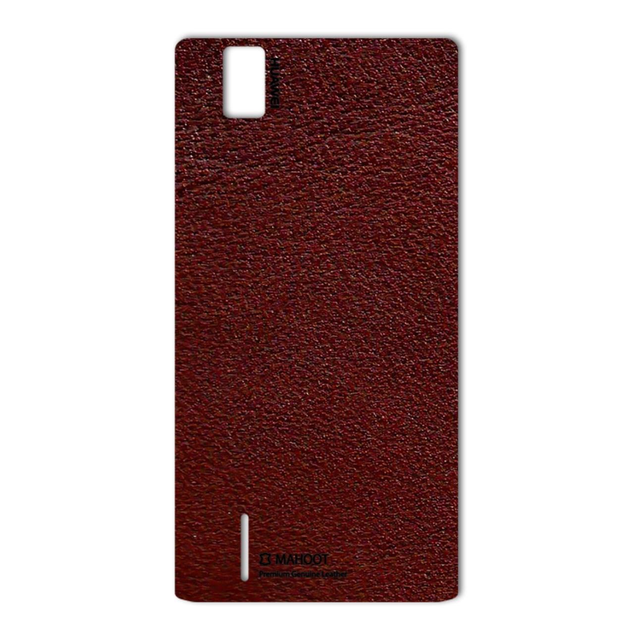 برچسب تزئینی ماهوت مدلNatural Leather مناسب برای گوشی  Huawei Ascend P2