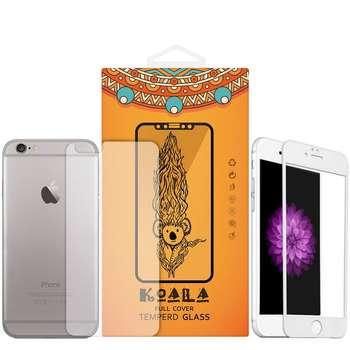 محافظ صفحه نمایش شیشه ای مات Full Cover و پشت شیشه ای Tempered کوالا مناسب برای گوشی موبایل اپل آیفون 6/6S