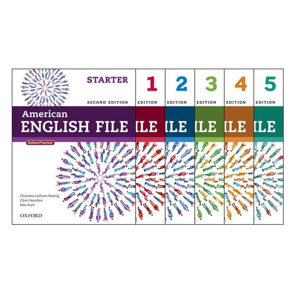 کتاب American English File 2nd اثر جمعی از نویسندگان انتشارات هدف نوین 5 جلدی