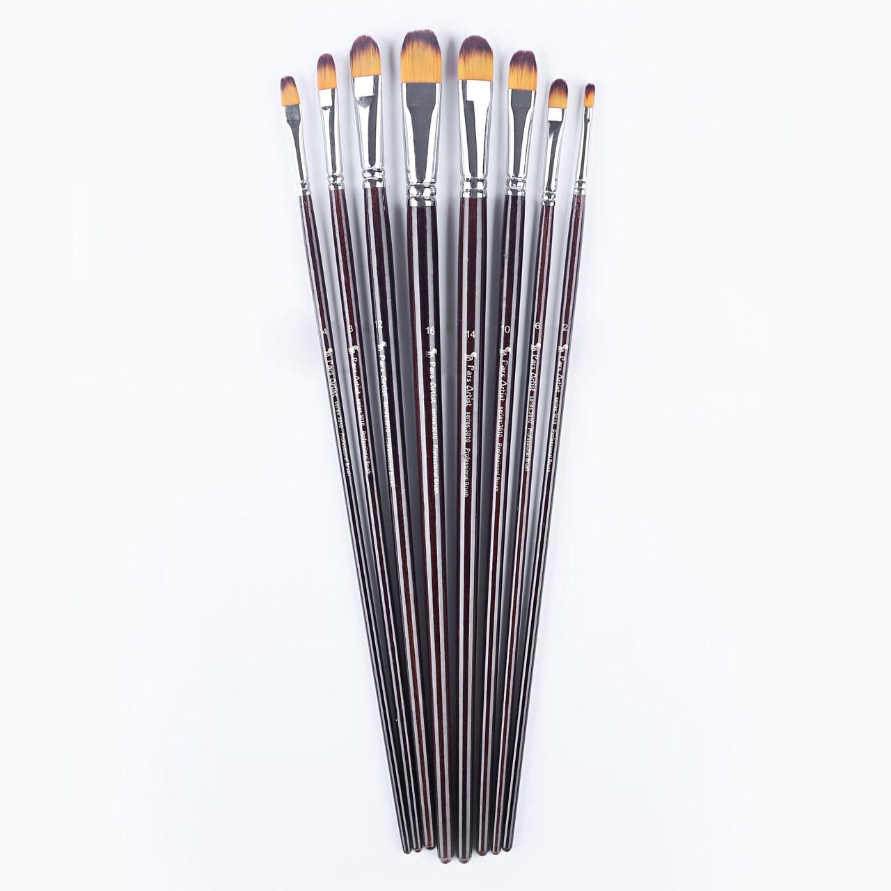 قلم مو پارس آرتیست کد3010 مدل زبان گربه ای ست 8 عددی