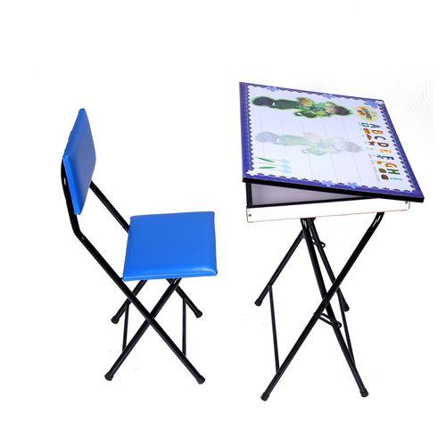 میز و صندلی تحریر تاشو و تنظیم شو یاس طرح بن تن باکس دار