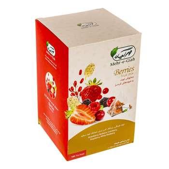 دمنوش کیسهای توت و میوه های قرمز مهرگیاه بسته 18 عددی