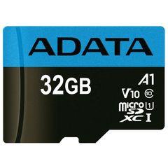 کارت حافظه microSDHC ای دیتا مدل Premier V10 A1 کلاس 10 استاندارد UHS-I سرعت 100MBps ظرفیت 32 گیگابایت