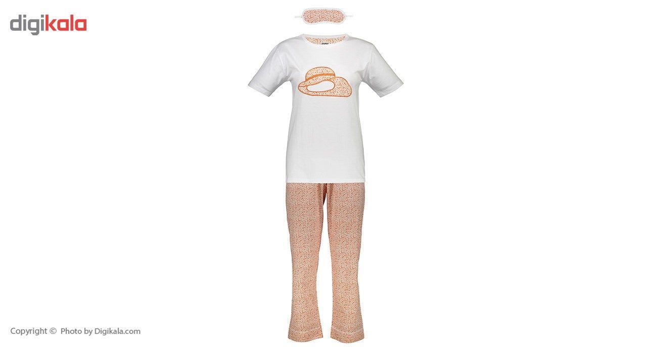 ست تی شرت و شلوار  زنانه ناوالس  کدSET01ORG main 1 1