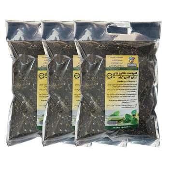 کمپوست طلایی چای گلباران سبز ظرفیت 2 لیتری مجموعه 3 عددی