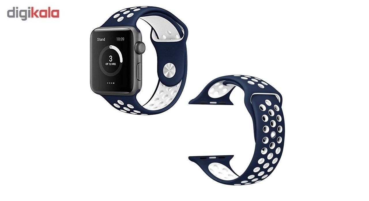 بند سیلیکونی طرح Nike مناسب برای اپل واچ 38 میلی متری main 1 2