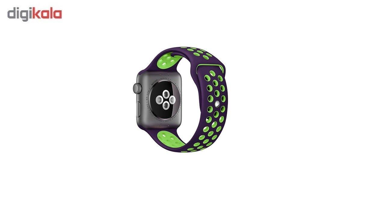 بند سیلیکونی طرح Nike مناسب برای اپل واچ 38 میلی متری main 1 4
