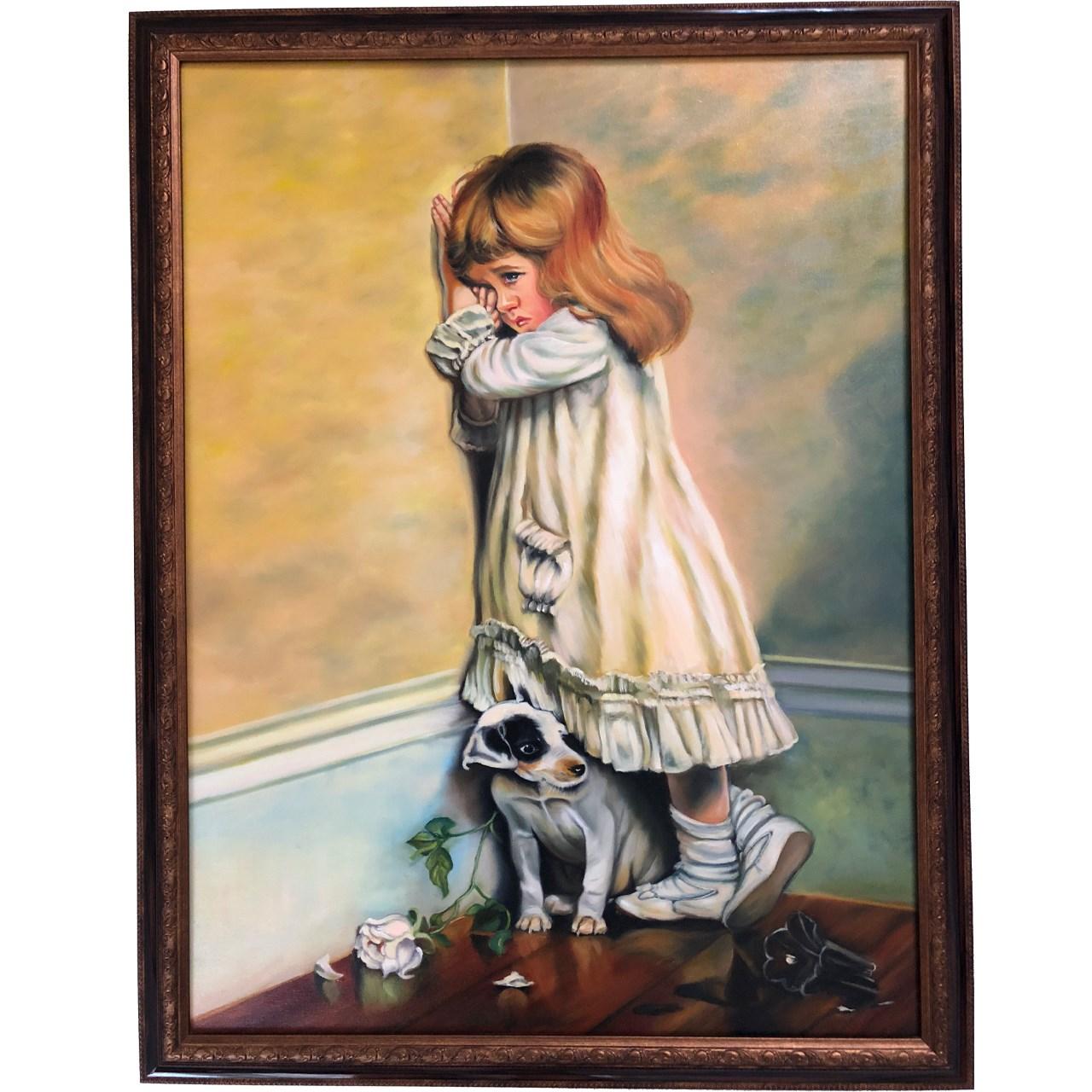عکس تابلو نقاشی گالری بارسین طرح دختر کوچولو