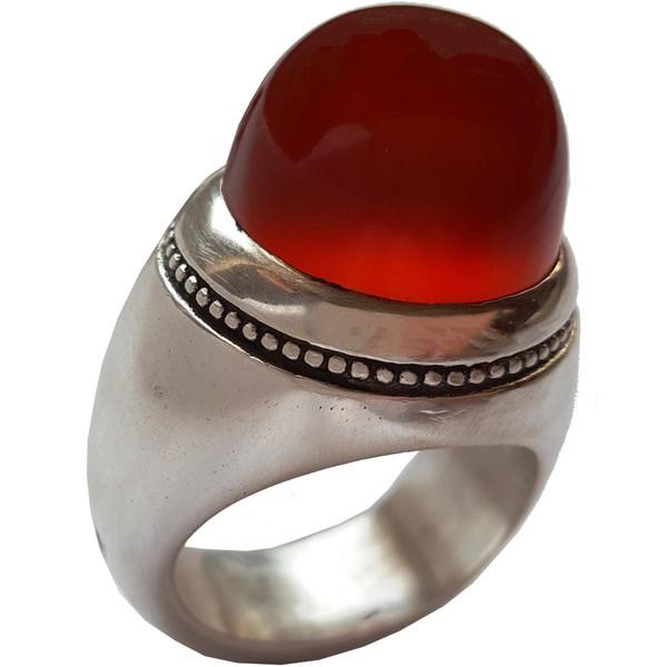 انگشتر نقره جواهرسرا عقیق یمنی آبدار درشت مدل a330jw